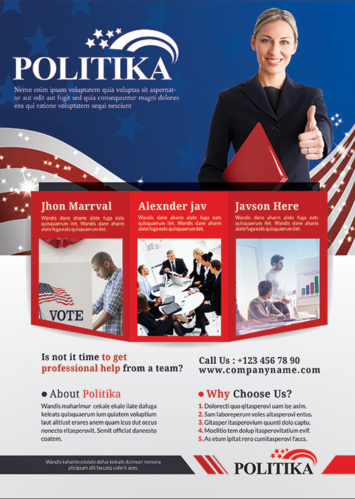 Political Campaign Brochure PSD - Template Industry