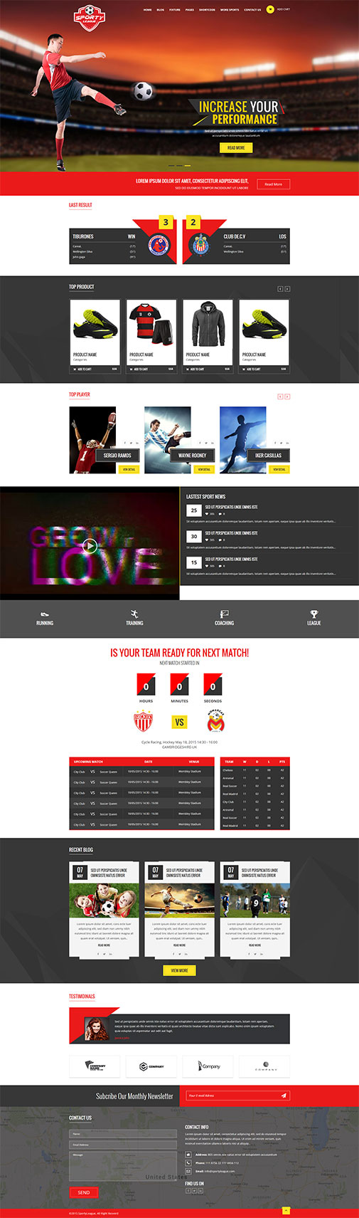free sports magazine HTML5 and CSS3 responsive template